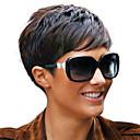 4inch módní krátký Rihanna styl brazilský panna Remy vlasy capless krátký žádný krajka paruky
