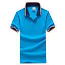 Pánské Bavlna / Polyester Denní nošení / Sportovní / Větší velikosti Patchwork Polo Krátký rukáv
