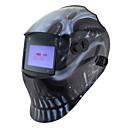 ミグ溶接マスク/ヘルメット/キャップ/目メガネティグ黒頭蓋骨溶接ツールアウト制御太陽Li電池自動黒ずみを