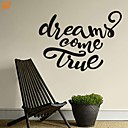 Slova a citáty / Romantika / Módní Samolepky na zeď Samolepky na stěnu,PVC M:42*59cm/ L:55*75cm