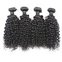 """4pcs Puno 8 """"-30"""" brazilski djevica kose kinky kovrčava prirodna crna ljudske kose splet ekstenzije besplatno kosu"""