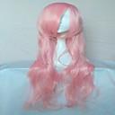 populární růžové umělých vlasů ženské cosplay paruka strana paruky dlouhý volný zvlněná animovaný paruky karikatura paruky plné paruku