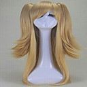 Nové stylové blondýnka cosplay paruka syntetické vlasy, paruky dlouho volné vlnité animovaný paruky stran paruky