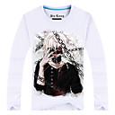 Inspirirana Tokio Ghoul Ken Kaneki Anime Cosplay nošnje Cosplay majica Print Bijela Dugi rukav Top