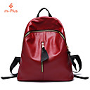 M.Plus® Women's Fashion Solid Korean PU Leather Backpack