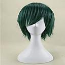 bez krytky Fashion Green krátký rovný cosplay a party paruky nejvyšší kvality syntetické vlasy, paruky muže cosplay paruka