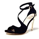 Žene Sandale Ljeto Udobne cipele Flis Ležerne prilike Stiletto potpetica Drugo Crna / Crvena Others