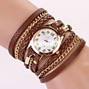 Dámské Módní hodinky Náramkové hodinky Křemenný Kůže Kapela Cikánské Černá Bílá Modrá Červená Hnědá Zelená Růžová žlutáModrá Růžová