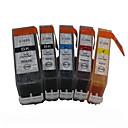 bloom®520bk + 521bk-521c / m / y kompatibilna spremnika s tintom za kanonika mp540 / MP560 / mp620 / mp640 / MP980 punim tinte (5 boja 1