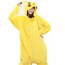 Kigurumi Pyžama New Cosplay® / Pika Pika Leotard/Kostýmový overal Festival/Svátek Animal Sleepwear Halloween Žlutá Patchwork Coral Fleece