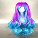 サイドバン2色のファッションキャップレスミックスカラーロング緩いウェーブのかかったパーティーかつら最高品質の人工毛かつら