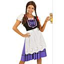 Cosplay Nošnje / Kostim za party Oktoberfest Festival/Praznik Halloween kostime Plav Kolaž Haljina / Pregača Halloween / Oktoberfest Ženka