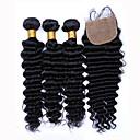 slove vlasy 7a stupeň nelisovaný hluboká vlna se zapínáním na hedvábí základna složených malajské panenských svazků vlasy
