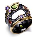 Prstenje Round Shape Moda Vjenčanje / Party / Dnevno / Kauzalni Jewelry Žene Klasično prstenje 1pc,6 / 7 / 8 / 9 Bakrene boje