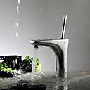 Současné Umyvadlo na desku Single Handle jeden otvor in Pochromovaný Koupelna Umyvadlová baterie