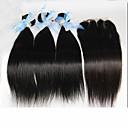 4pcs puno Peruanski ravno djevica kosa sa zatvaranjem 3bundles neprerađeni Peruanski ljudske kose tkati s 1pc čipke zatvaranja