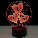 kreativní i love you 3d vedl barevné noční světlo dotekovým spínačem