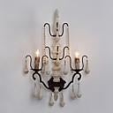 dvojité hlavy dřevo s kovový materiál pokovení barevné retro stylu nástěnné svítidlo pro vnitřní ozdobit nástěnné svítidlo