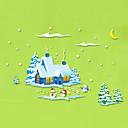 Vánoce Samolepky na zeď Samolepky na stěnu Ozdobné samolepky na zeď,PVC Materiál Snímatelné / Nastavitelná poloha / OmyvatelnéHome