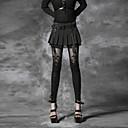 Punk Rave ženski crni mršavi hlače, berba