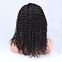 Glueless plné krajka lidské vlasy paruky pro černé ženy malajské panna vlasy kudrnaté kudrnaté krajky vpředu paruka 12-24inch