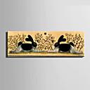Módní a moderní Zvířata Nástěnné hodiny,obdélníkový Plátno 24 x 70cm(9inchx28inch)x1pcs/ 30 x 90cm(12inchx35inch)x1pcs Vevnitř Hodiny