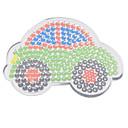 5ミリメートルHAMAビーズ用の1個のテンプレート明確ペグボードカラフルさ11cm車はビーズがビーズを融合perler