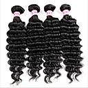 4 חלקים גל עמוק שוזרת שיער אנושי שיער הודי שוזרת שיער אנושי גל עמוק