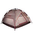 HIMAGET 3-4 osoby Stříška Trojitý automatický stan jeden pokoj Camping Tent >3000mm Hliník Oxford Polyesterová tafetaOdolný proti