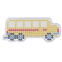 1ks šablony jasné Perler korálky děrované stěny žlutý školní autobus vzor pro 5mm Hama korálky pojistka korálky