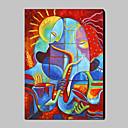 Ručně malované Abstraktní Abstraktní portrét Vertikálně,Moderní Tradiční Jeden panel Plátno Hang-malované olejomalba For Home dekorace