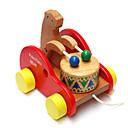 ドラッグ子供を登る木製ドラムクマの赤ちゃん幼児教育玩具パズル