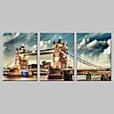 rastegnuti platnu umjetnosti London Bridge set od 3