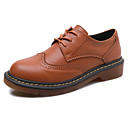 Women's Oxfords Spring / Fall Comfort / Round Toe / Closed Toe  Casual Flat Heel Lace-up  Walking