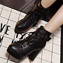 女性-カジュアル-その他アニマルスキン-チャンキーヒール-ヒール-ブーツ-ブラック