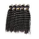 人間の髪編む ブラジリアンヘア ウェーブ 12ヶ月 4個 ヘア織り