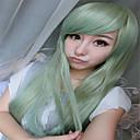 髪ドラッグクイーンかつらがオンブルパステルミントグリーンウィッグ耐熱合成を原宿ファッション性の高い女性