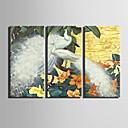 Zvíře Na plátně Tři panely Připraveno k Pověste , Horizontální