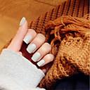 noktiju trake svijetlo siva mat kratak stavka elegantan i seksi 24 kom / set