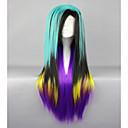 klasična 80cm duga ravna sintetička boja cosplay perika lolita perika