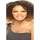 Short Afro Kinky Wave Light Brown Yellow and Brown Color Synthetic Wigs for Women
