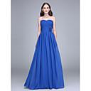 Lanting Bride® Na zem Šifón Šaty pro družičky - Pouzdrové Bez ramínek s Květina(y) / Křížení