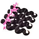 4 Pièces Ondulation naturelle Tissages de cheveux humains Cheveux Péruviens 400g 10''-30'' Extensions de cheveux humains