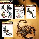 4 Tetovaže naljepnice Animal Serija / Totem Series / Others / crtani serijeNon Toxic / Uzorak / Velika veličina / Donji dio leđa /
