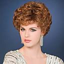 top chaleur de qualité résistant courtes perruques de couleur brun bouclés pour les femmes noires