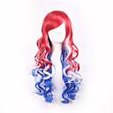 rouge bule mélangé à la couleur blanche Cospaly perruques synthétiques pour les femmes afro