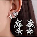 Naušnica Dijamant / Kristal Heart Shape / Flower Shape / Leaf Shape Sitne naušnice / Klipse Jewelry ŽeneDouble-layer / Sexy / Moda /