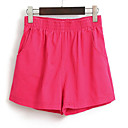 Žene Ravan kroj Kratke hlače Hlače Jednostavno Ležerno/za svaki dan Jednobojni Normalan struk Elastičnost Pamuk Micro-elastične Ljeto