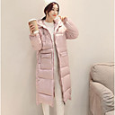 Dámské Standardní S vycpávkou Jednoduché Běžné/Denní Jednobarevné-Kabát Polyester Polypropylen Dlouhý rukáv Růžová / Černá