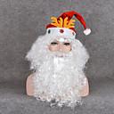 Chirstmasのギフト祭プロップファンが巻き毛のかつらは白ひげクリスマスサンタクロースのかつらコスプレ& 口ひげ& クリスマスの帽子